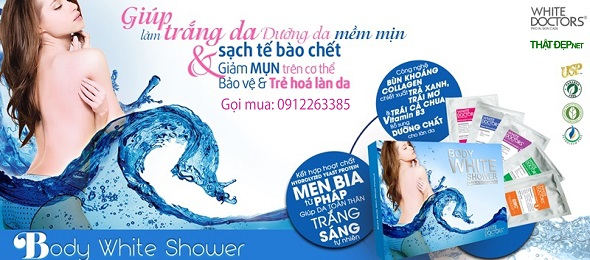 BODY WHITE SHOWER Spa 6 trong 1